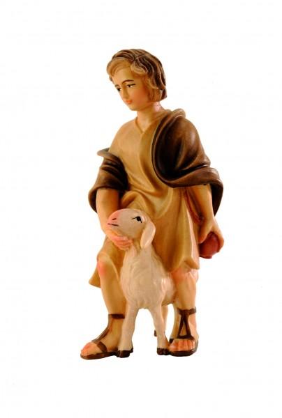 Hirt auf Schaf